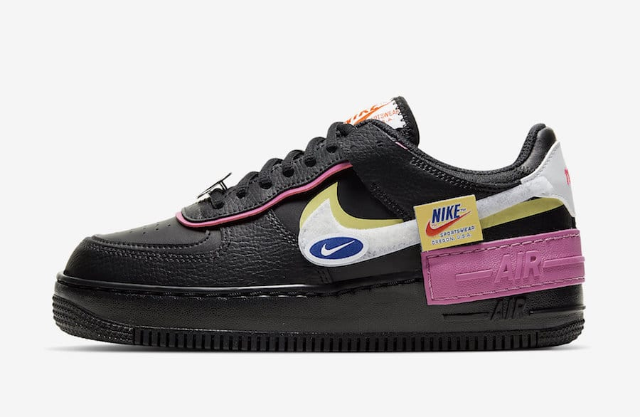 autor sector Derivar  NIKE AIR FORCE 1 SHADOW REMOVABLE PATCHES BLACK PINK – SneakersTrendz
